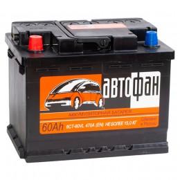 Автомобильный аккумулятор АвтоФан 60L 470А прямая полярность 60 Ач (242x175x190) фото