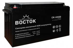 Аккумулятор для ИБП ВОСТОК СК-12150 универсальная полярность 150 Ач (482x170x240) фото
