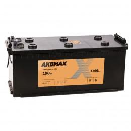 AKBMAX 190 под болт 1200А прямая полярность 190 Ач (516x223x223)
