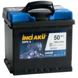 Автомобильный аккумулятор INCI AKU Supr A 50R 450А обратная полярность 50 Ач (207x175x190) фото