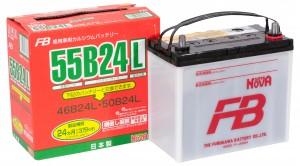 Автомобильный аккумулятор FB SUPER NOVA 55B24L 570А обратная полярность 45 Ач (236x126x227) фото