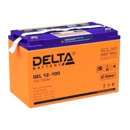Delta GEL 12-100 универсальная полярность 100 Ач (330x171x220)