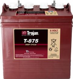 Тяговый аккумулятор TROJAN T-875 8V 170A универсальная полярность 170 Ач (264x181x276) фото