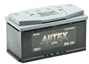Автомобильный аккумулятор АКТЕХ CLASSIC 100R 900А обратная полярность 100 Ач (353x175x190) фото