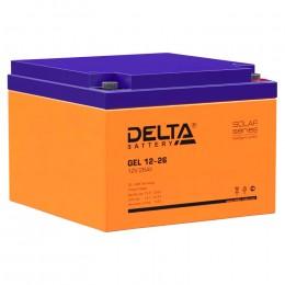 Delta GEL 12-26 универсальная полярность 26 Ач (174x166x125)