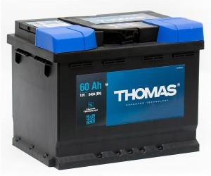 Автомобильный аккумулятор THOMAS 60R 540А обратная полярность 60 Ач (242x175x190) фото