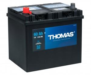 Автомобильный аккумулятор THOMAS ASIA 60L 550А прямая полярность 60 Ач (232x173x225) фото