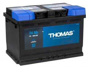Автомобильный аккумулятор THOMAS 74R 680А обратная полярность 74 Ач (278x175x190) фото