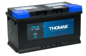 Автомобильный аккумулятор THOMAS 100R 830А обратная полярность 100 Ач (353x175x190) фото