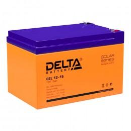 Delta GEL 12-15 универсальная полярность 15 Ач (151x98x95)