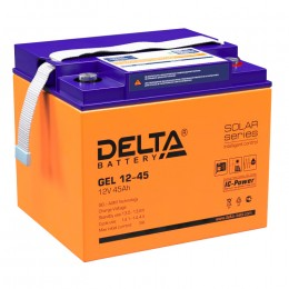 Delta GEL 12-45 универсальная полярность 45 Ач (196x166x173)