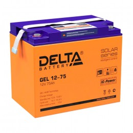 Аккумулятор для ИБП Delta GEL 12-75 универсальная полярность 75 Ач (260x168x220) фото