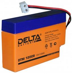 Аккумулятор для ИБП Delta DTM 12008 универсальная полярность 1 Ач (96x25x62) фото