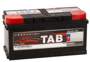 Автомобильный аккумулятор TAB MAGIC 100R 900А обратная полярность 100 Ач (353x175x190) фото