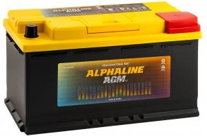 Автомобильный аккумулятор AlphaLINE AGM 105R 950А обратная полярность 105 Ач (393x175x190) фото