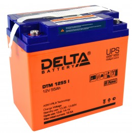 Delta DTM 1255 I универсальная полярность 55 Ач (239x132x205)