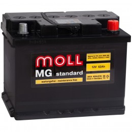 MOLL MG 62R 600А обратная полярность 62 Ач (242x175x190)