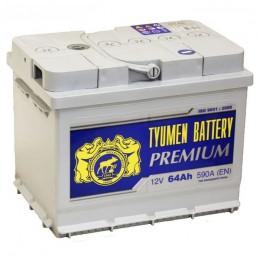 Тюмень Premium 64L  620А прямая полярность 64 Ач (242x175x190)