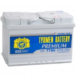 Тюмень Premium 77R 680А Обратная полярность 77 Ач (278x175x190)