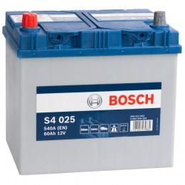 Автомобильный аккумулятор BOSCH S4 025 (60L) 540А прямая полярность 60 Ач (232x173x225) фото