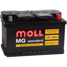 Автомобильный аккумулятор MOLL MG 66R (низкий) 650А обратная полярность 66 Ач (278x175x175) фото
