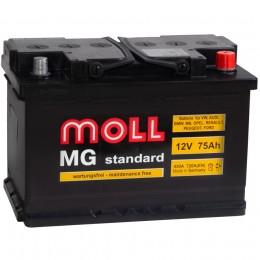 Автомобильный аккумулятор MOLL MG 75R 720А обратная полярность 75 Ач (276x175x190) фото