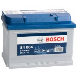 Автомобильный аккумулятор BOSCH S4 004 (60R) 540А обратная полярность 60 Ач (242x175x175) фото