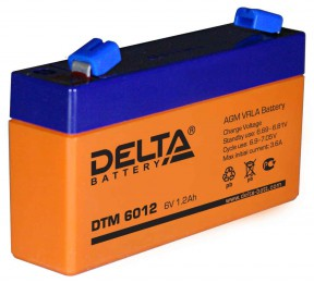 Delta DTM 6012 универсальная полярность 2 Ач (97x24x58)