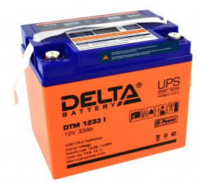 Delta DTM 1233 I универсальная полярность 33 Ач (194x132x168)