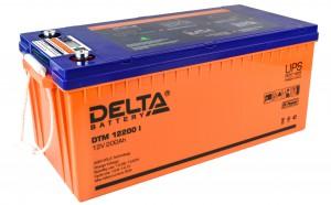 Delta DTM 12200 I универсальная полярность 200 Ач (522x239x222)