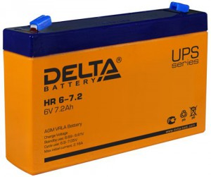 Аккумулятор для ИБП Delta HR 6-7.2 универсальная полярность 8 Ач (151x34x100) фото