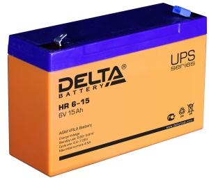 Delta HR 6-15 универсальная полярность 15 Ач (151x50x100)