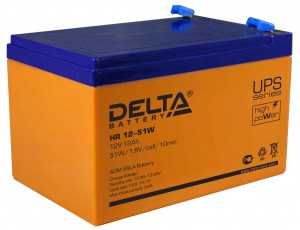 Аккумулятор для ИБП Delta HR 12-51W универсальная полярность 12 Ач (151x98x101) фото