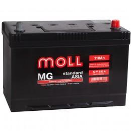 Автомобильный аккумулятор MOLL MG Asia 110R 835А обратная полярность 110 Ач (292x170x215) фото