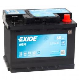 EXIDE Start-Stop AGM 60R EK600 680A 242х175х190