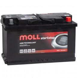 MOLL AGM Start-Stop 80R 800А обратная полярность 80 Ач (315x175x190)