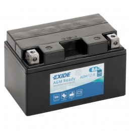 Аккумулятор для мототехники EXIDE AGM 12-8 145А прямая полярность 9 Ач (150x87x93) фото