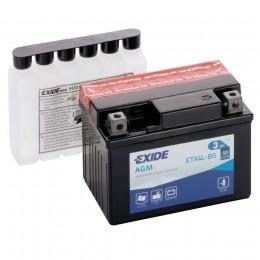 Аккумулятор для мототехники EXIDE ETX4L-BS 50А обратная полярность 3 Ач (113x70x87) фото