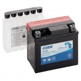 Аккумулятор для мототехники EXIDE ETX5L-BS 70А обратная полярность 4 Ач (113x70x105) фото
