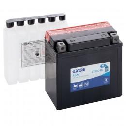 Аккумулятор для мототехники EXIDE ETX9C-BS 120А прямая полярность 9 Ач (135x75x139) фото