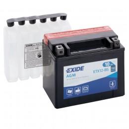 Аккумулятор для мототехники EXIDE ETX12-BS 150А прямая полярность 10 Ач (150x87x130) фото