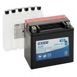 Аккумулятор для мототехники EXIDE ETX14-BS 200А прямая полярность 12 Ач (150x87x145) фото
