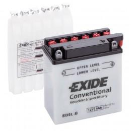 Аккумулятор для мототехники EXIDE EB5L-B 65А обратная полярность 5 Ач (120x60x130) фото