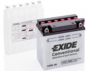 Аккумулятор для мототехники EXIDE 12N9-3B 85А обратная полярность 9 Ач (135x75x139) фото