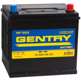 GENTRY 60R (75D23L) 530А обратная полярность 60 Ач (232x173x225)