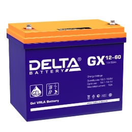 Delta GX 12-60 600А универсальная полярность 60 Ач (258x166x235)