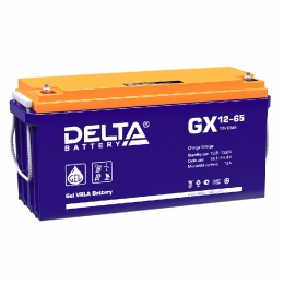 Delta GX 12-65 650А универсальная полярность 65 Ач (350x167x183)