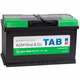 TAB AGM 80R 800А обратная полярность 80 Ач (315x175x190)