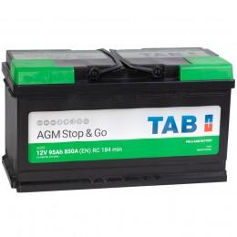 TAB AGM 95R 850А обратная полярность 95 Ач (353x175x190)