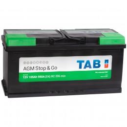 TAB AGM 105R 950А обратная полярность 105 Ач (394x175x190)